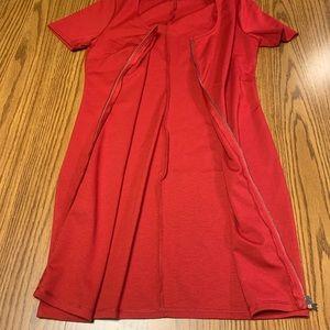 Forever 21 Dresses - Forever 21 • Bodycon Zipper-Front Dress • MEDIUM